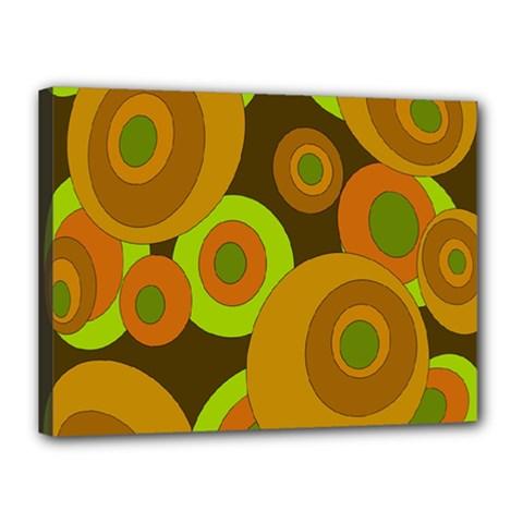 Brown Pattern Canvas 16  X 12  by Valentinaart
