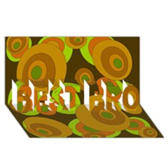 Brown Pattern Best Bro 3d Greeting Card (8x4)  by Valentinaart