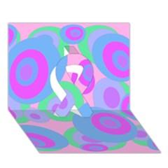 Pink Pattern Ribbon 3d Greeting Card (7x5)  by Valentinaart