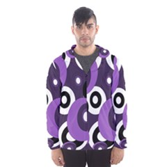 Purple Pattern Hooded Wind Breaker (men) by Valentinaart