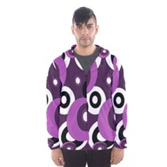 Purple Pattern Hooded Wind Breaker (men)