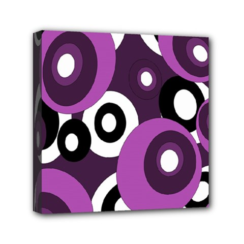 Purple Pattern Mini Canvas 6  X 6  by Valentinaart