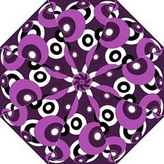 Purple Pattern Folding Umbrellas by Valentinaart