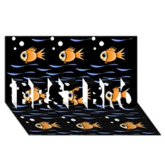 Fish Pattern Best Bro 3d Greeting Card (8x4)  by Valentinaart