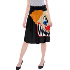 Evil Clown Midi Beach Skirt