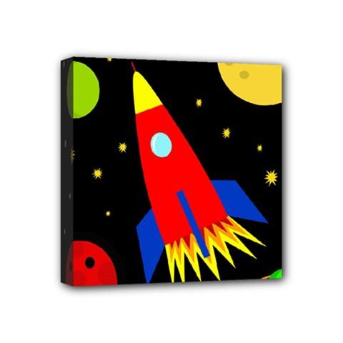 Spaceship Mini Canvas 4  X 4  by Valentinaart
