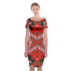 Art Digital (19)gfhhkhi99kkyjy[ [ Classic Short Sleeve Midi Dress