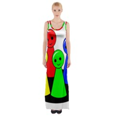 Don t Get Angry Maxi Thigh Split Dress by Valentinaart