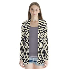 Artistic Abstraction Drape Collar Cardigan by Valentinaart