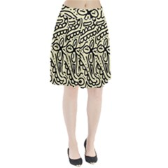 Artistic abstraction Pleated Mesh Skirt