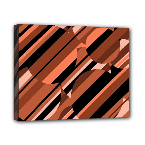 Orange Pattern Canvas 10  X 8  by Valentinaart