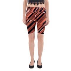 Orange pattern Yoga Cropped Leggings by Valentinaart