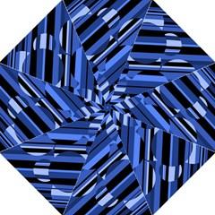 Blue Pattern Hook Handle Umbrellas (medium) by Valentinaart