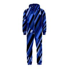 Blue pattern Hooded Jumpsuit (Kids) by Valentinaart