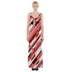 Orange Pattern Maxi Thigh Split Dress by Valentinaart