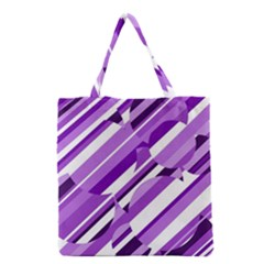 Purple Pattern Grocery Tote Bag by Valentinaart