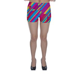 Colorful Summer Pattern Skinny Shorts by Valentinaart