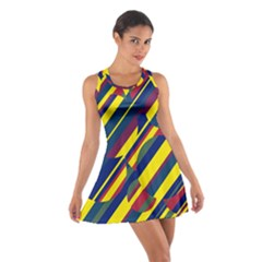 Colorful pattern Cotton Racerback Dress by Valentinaart
