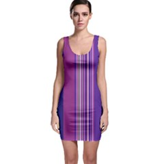 Striped Color Sleeveless Bodycon Dress by olgart