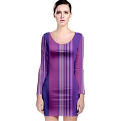 Striped Color Long Sleeve Bodycon Dress by olgart