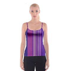 Striped color Spaghetti Strap Top by olgart