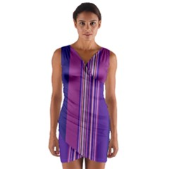 Striped color Wrap Front Bodycon Dress by olgart