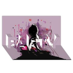 Make You Dirty Party 3d Greeting Card (8x4)  by lvbart