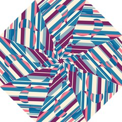 Blue And Pink Pattern Straight Umbrellas by Valentinaart