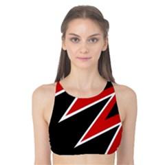 Black and red simple design Tank Bikini Top by Valentinaart