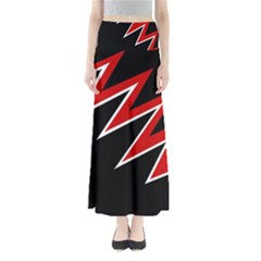 Black And Red Simple Design Maxi Skirts by Valentinaart
