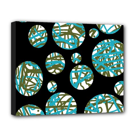 Decorative Blue Abstract Design Deluxe Canvas 20  X 16   by Valentinaart