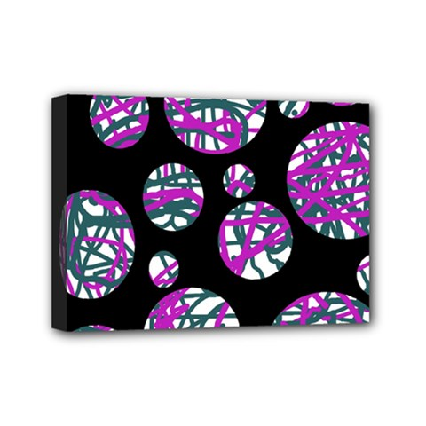 Purple decorative design Mini Canvas 7  x 5  by Valentinaart