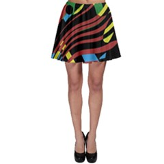 Colorful Decorative Abstrat Design Skater Skirt by Valentinaart
