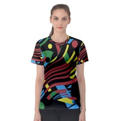 Colorful Decorative Abstrat Design Women s Sport Mesh Tee by Valentinaart