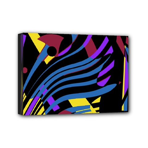 Decorative Abstract Design Mini Canvas 7  X 5  by Valentinaart