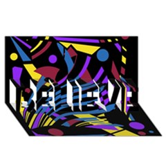 Decorative Abstract Design Believe 3d Greeting Card (8x4)