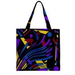 Decorative Abstract Design Zipper Grocery Tote Bag by Valentinaart