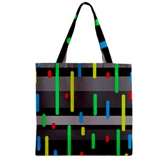 Colorful Pattern Zipper Grocery Tote Bag by Valentinaart