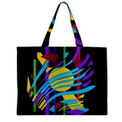 Colorful Abstract Art Zipper Mini Tote Bag by Valentinaart