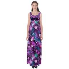 Underwater Garden Empire Waist Maxi Dress