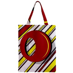 Red And Yellow Design Zipper Classic Tote Bag by Valentinaart