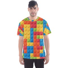 Lego Bricks Pattern Men s Sport Mesh Tee by Etnousta