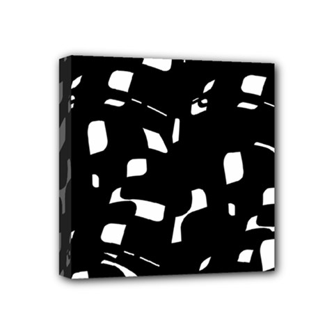 Black And White Pattern Mini Canvas 4  X 4  by Valentinaart
