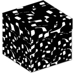 Black and white pattern Storage Stool 12   by Valentinaart