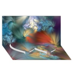 More Evidence Of Angels Twin Heart Bottom 3d Greeting Card (8x4)  by WolfepawFractals