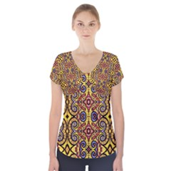 Apart Art Short Sleeve Front Detail Top by MRTACPANS