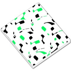 Green, Black And White Pattern Small Memo Pads by Valentinaart