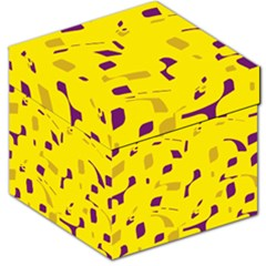 Yellow And Purple Pattern Storage Stool 12   by Valentinaart