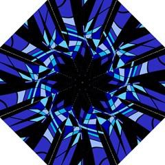 Blue Abstart Design Golf Umbrellas by Valentinaart