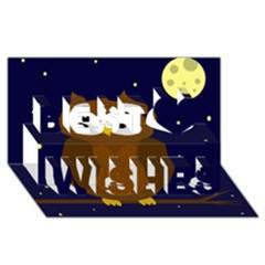 Cute Owl Best Wish 3d Greeting Card (8x4) by Valentinaart